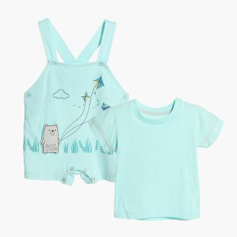 Hush Hush Boys Bear Flying Kite Jumper (Turquoise) Price Philippines