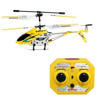 Harga Lian Sheng LS-222 Mini 3.5CH IR Remote Control Helicopter with Built-in Gyroscope (Yellow)