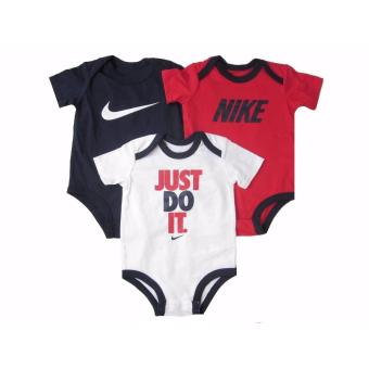 Harga Nike 3-Pack Bodysuits - Just Do It (0-3 Months)