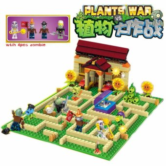 Plants vs Zombies Garden maze struck game Building Blocks Bricks Like figures My world Minecraft Toys for children gift - intl Price Philippines