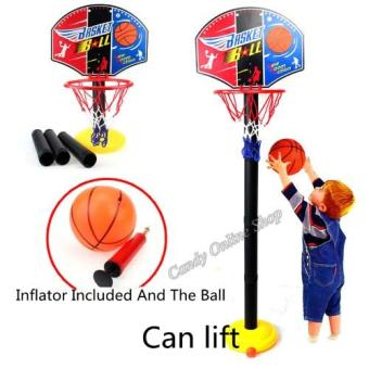 Kids Sports Portable Basketball Toy Set with Stand Ball & Pump Toddler Baby Price Philippines