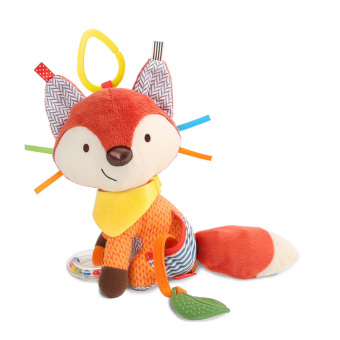 Harga Baby Bandana Buddies Multi-Sensory Soft Plush Toy,Rattle Toy, Fox - intl