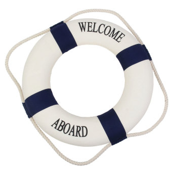 niceEshop Navy Accent Nautical Welcome Aboard Decorative Cloth Life Ring Buoy Room Decor Dark Blue Price Philippines