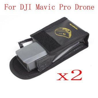 2PC Fireproof Explosionproof Storage Bag Case Safety For DJI Mavic Pro - intl Price Philippines