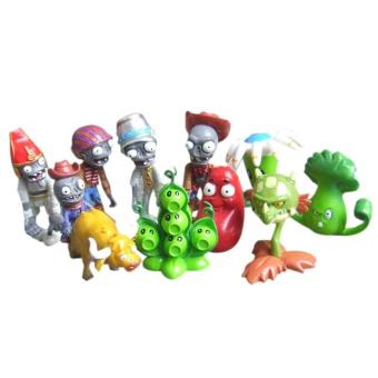 10pcs Set Plants Vs Zombies Game Series Figure Role Display Toys Zombie Yeti PVC Decor - intl Price Philippines
