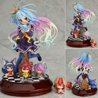 Harga Anime Life No Game No Life 2 Shiro Game of Life Painted second generation Game of Life 1/7 scale PVC action figure model - intl