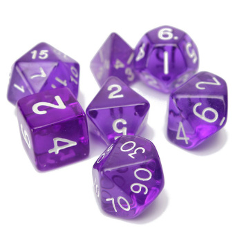 Harga 7-Dice Sided D4 D6 D8 D10 D12 D20 Magic-the-Gathering MTG D&D RPG Poly Game Set Purple
