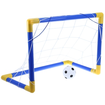 Mini Football Soccer Goal Post Net Set with Pump Indoor Outdoor Kids Sport Toy - intl Price Philippines