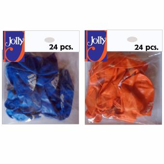 Happy Birthday Balloons 24`s Blue & 24`s Orange Price Philippines