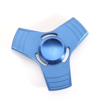 Harga Metal 3D Triangle Hand Spinner EDC Fidget Spinner color:Blue - intl