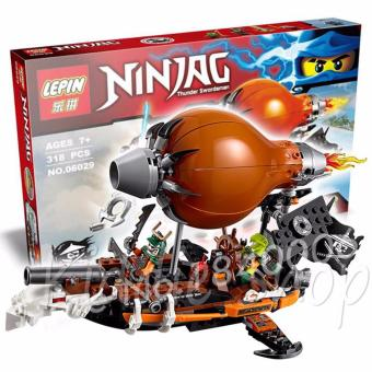 Harga 06029 LEPIN 318 PCS NINJAG THUNDER SWORDSMAN(specification colors and content may vary from illustration)