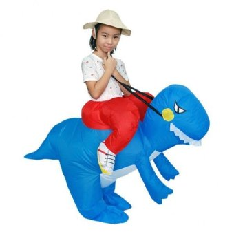 Harga MagiDeal Kids' Inflatable Blue T-Rex Dinosaur Riding Costume Set