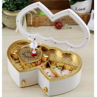 Ballerina Music Jewelry Box Heart Shaped Tune White - intl Price Philippines