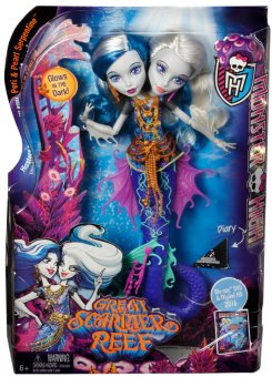 Harga Monster High Great Scarrier Reef Peri & Pearl Serpentine Doll