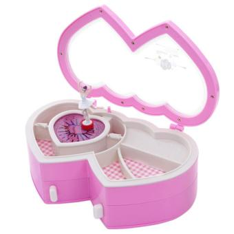 Ballerina Music Jewelry Box Heart Shaped Tune Pink - intl Price Philippines
