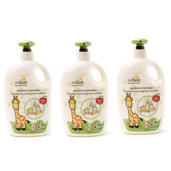 Harga Tiny Buds Natural Baby Bottle and Utensil Wash 600ml Triple Pack