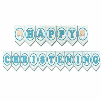 Happy Christening Party Banners (Blue) Price Philippines