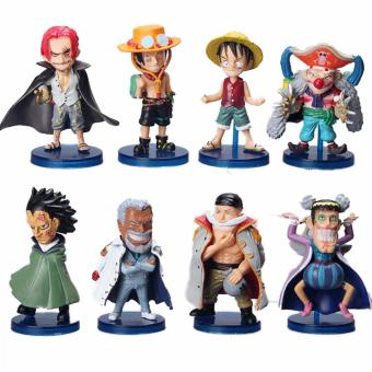 Anime One Piece Luffy Ace Shanks Monkey D Garp Edward Newgate Buggy Q Version 8pcs/SetMini Figures Price Philippines