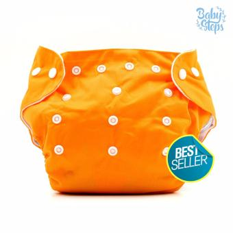 BABY STEPS Cloth Baby Diapers (Orange) Price Philippines