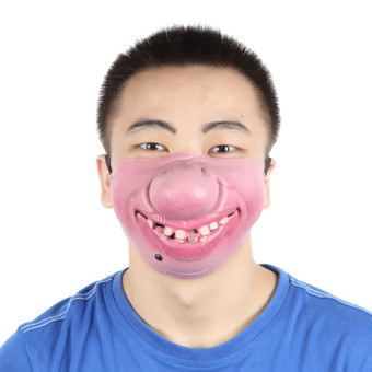 Harga EOZY Halloween Funny Mask Pig Nose Half-Face Masks Costume Props Party Supplies