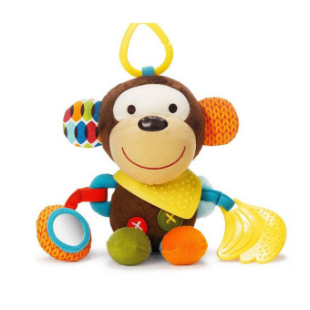 Harga Baby Bandana Buddies Multi-Sensory Soft Plush Toy,Rattle Toy, Monkey - intl