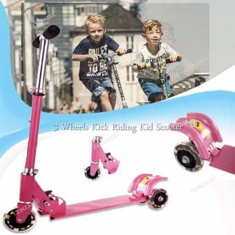 3 Wheels Kick Riding Kid Scooter (Pink) Price Philippines