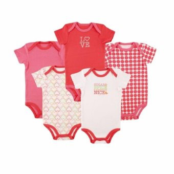 Luvable Friends 5 Pack Bodysuit Sugar & Spice for 3-6 Months Old Price Philippines