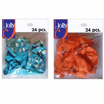 Happy Birthday Balloons 24`s Sky Blue & 24`s Orange Price Philippines