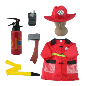GDS Children Fireman Costumes For Halloween Party Kids Cosplay Fireprotection People Cos Clothing Suit For Boys 3-7 Years Old - intl Price Philippines
