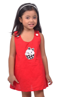 Harga Love My Clothes Kids A-Line Dress (Red)