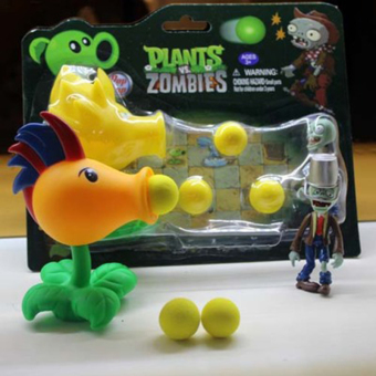 New Popular Game PVZ Plants vs Zombies Peashooter PVC Action Figure Model Toys - Intl Price Philippines