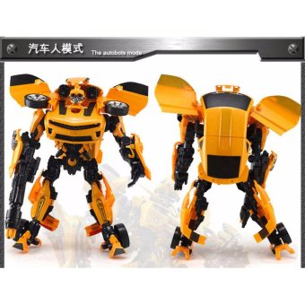Harga Genuine 3C deformation robot deformation car model toy King Kong rhubarb a bee with sound and light - intl