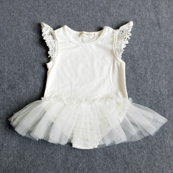 [100% COTTON]Cotton baby clothes lace leotard black Price Philippines