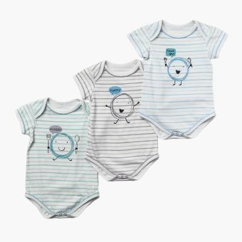 Hush Hush Boys 3-piece Hungry Onesie Set (Multicolored) Price Philippines