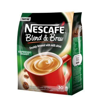 Harga Nescafe Blend and Brew Espresso Roast Coffee Mix Sachets 30's Pack