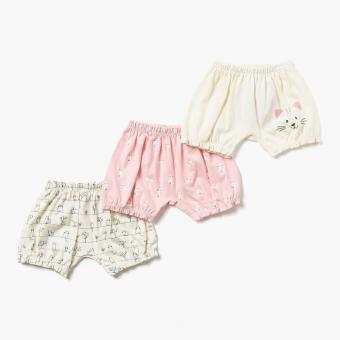 Hush Hush Girls 3-Piece Sweet Kitty Shorts Set (Multicolored) Price Philippines
