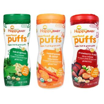Harga Happy Baby Puffs Bundle of Kale and Spinach, Strawberry and Beet, Sweet Potato and Carrot