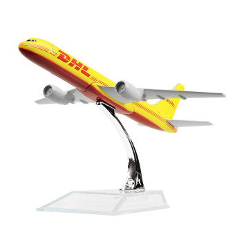 Dhl B757-200 , Dhl-sinotrans 16cm airplane models child Birthday gift chiristmas gift plane models - Intl Price Philippines