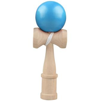 Kids Adults Japanese Traditional Wooden Skill Ball Kendama Catch Game Ball Toy Blue - intl Price Philippines