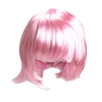 Bobo Short Straight Pink Party Dress Hair Wig Cosplay (Pink) Price Philippines