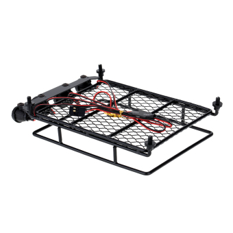 Harga Original Austar Roof Luggage Rack with LED Light Bar for 1/10 1/8 RC Cars Rock Crawler Rally 4WD CC01 CR01 D90 AXIAL SCX10