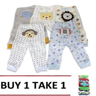 Harga Baby Boy Pajama Set of 5 (Assorted design & color)Buy 1 Take 1