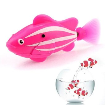 Popular Robo Fish / Electric Pet Fish Toy Gifts for Kids Children Pink - intl Price Philippines