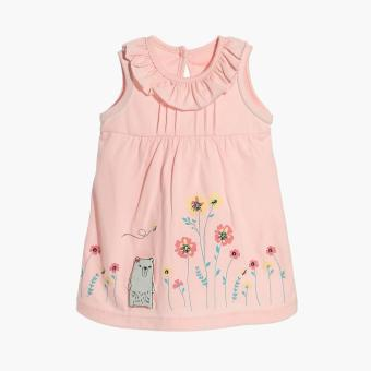 Hush Hush Girls Bear's Flowers A-line Dress (Pink) Price Philippines