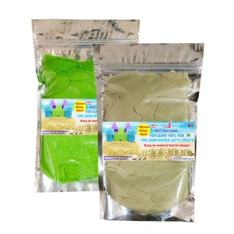 Harga Motion Sand Natural and Green Color Sand