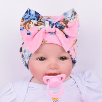 Cartoon Infant Cotton Baby Hat Big Bow Cap (Pink) Price Philippines