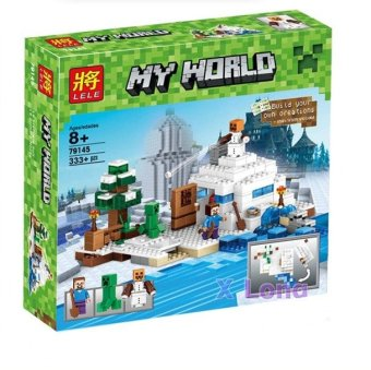 Harga LELE 79145 OUR WORLD Minifigures sets 333PCSLOT Building Blocks Figures Toys Compatible legoelieds castle minecraft original