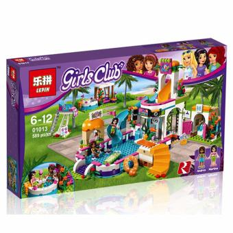 Harga LEPIN 1013 GIRLS CLUB Heartlake Summer Pool (589 pcs) Building Blocks Set