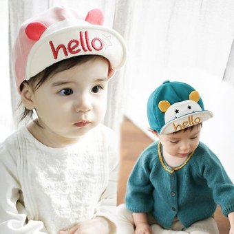 Fashion Baby Kids Hat Cute Cap W/ Hello Letter Cotton Baseball Cap(Pink) - intl Price Philippines