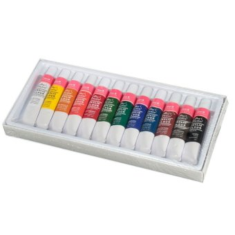 HKS Professional 12 Colors 12ml Paint Tubes Draw Painting Acrylic Color Artist Set - Intl Price Philippines